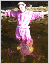 Lady Jasmine and The Pink Pourer get totally soaked in the river. featuring Nurse Wendy-Household, Registered Gunge Nurse